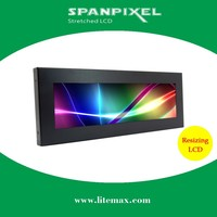 LITEMAX 10 inch 700 nits high brightness sunlight readable outdoor industrial stretched bar LED LCD display monitor