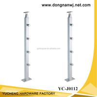 aluminum handrail handrails for porch steps glass balustrades YC-J0112