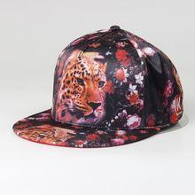 custom animal print cap/cheap printed brims snapback/flat cap man