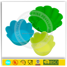 Personalized kitchen tools flowerpot silicone cupcake molds