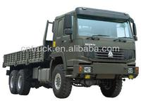 HOWO 6x6 van cargo truck for army transportation