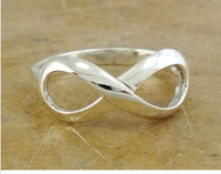 HIGH POLISHED .925 STERLING SILVER INFINITY FASHION LOVE RING