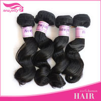 Cheap hair extension malaysia hair import products Natural color deep wave
