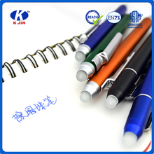 2015 oem accept hot sale plastic erasable ball pen for students and offices