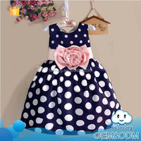 Latest designs white baby clothes wholesale price polka dot designer soft cotton evening flower girls' dresses