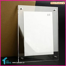 Manufacturing Clear Cubicle Photo, Document Frame, Acrylic, 4 x 6