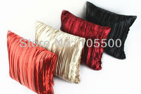 New Design Satin Crease Crinkle Stripe Decorative Fancy Elegant Sofa Cushion Cover-Throw Pillow Case Wholesale