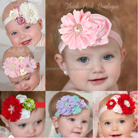 Bulk Wholesale High Quality Kids Korea Style Cute Cheap Christmas Hair Accessories Newborn Baby Flower Hair Handband
