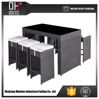 All weather luxury rattan outdoor table top salad bar wholesale