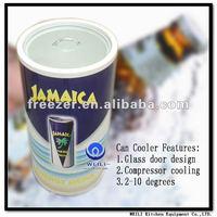 40L glass top new design sport drink logo can shape fridge/freezer/cooler(CE CB ROHS)