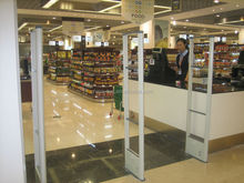 8.2Mhz EAS pedestals system Metal antenna R700 for kinds of store