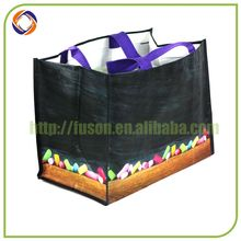 Top level quality promotional pp woven picnic bag and mat