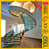 wood curved staircases / round staircase plan