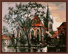 canvas oil painting by numbers tree photo oil painting GX6377