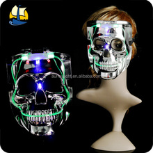 Glowing halloween skull mask