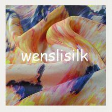 digital print silk fabric with satin style