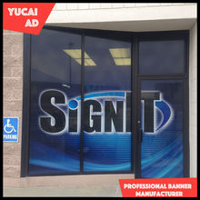 Shopping store removable window graphic vinyl decals