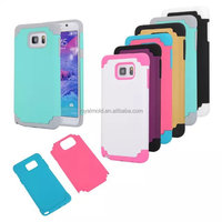 Colourful PC+silicone cell phone case Compatible for Sumsung note5