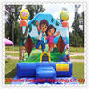 spiderman bounce house animal jumper inflatable slide with hoop