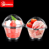 Small 50ml, 200ml disposable plastic ice cream / salad cup