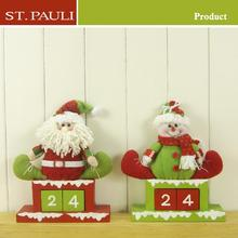 Factory directly sell Stretch fleece& handmade advent calendar home decor