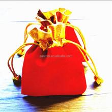 Drawstring silk velvet gift bag Ring Cosmetic Satin Bags&Large Black Satin Velvet Bags Pouches Wholesale