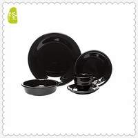 4pcs Color Round Stoneware Dinnerware Set