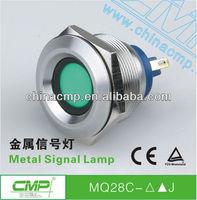 auto metal panel 12v led signal miniature lamp ,stainless steel anti-vandal waterproof indicator roof light pilot lamp (TUV,CE)