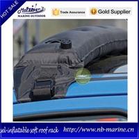 Self inflatable kayak roof rack, car removable roof rack, car roof luggage rack