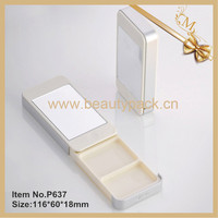 iphone compact powder plastic case with mirror