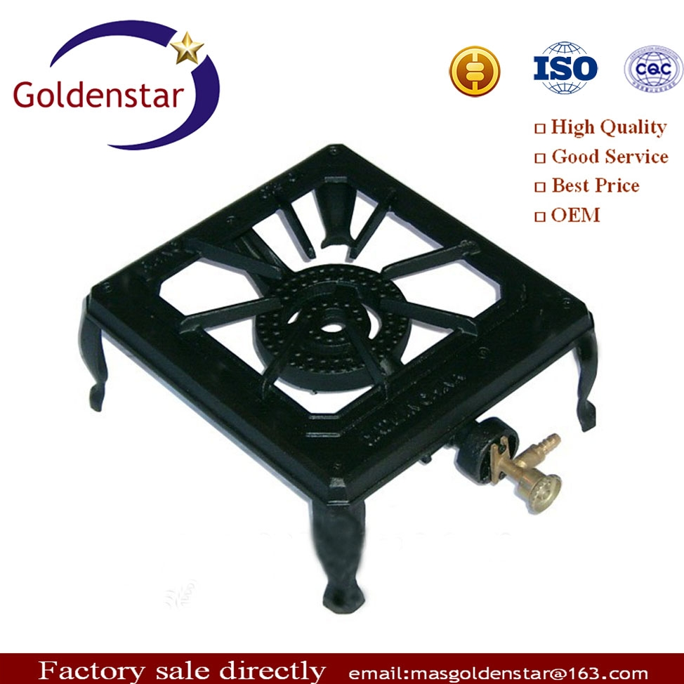 Single Burner Lpg Cast Iron Outdoor Gas Stove With Free ...