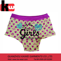 girl's printed brief boxer ,comfortable wearing kid's panty ,low MOQ can be aeccepted