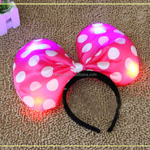 Perfect!!! Performing show Mickey Minnie headband Party supplies with led Light