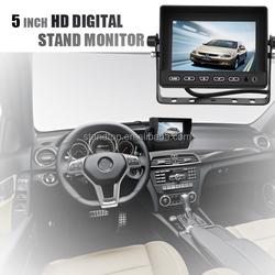 5 inch Digital Car LCD TFT Monitor with 3 ways video input,2ways audio input