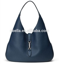 Hot sale leather handbag bag design branded handbag with noble elegence