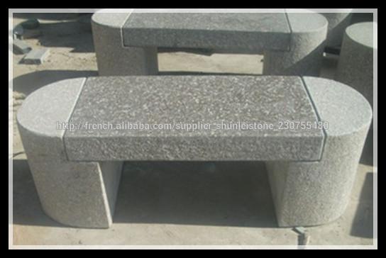 jardin pas cher banc de pierre granite id de produit. Black Bedroom Furniture Sets. Home Design Ideas