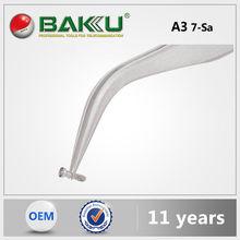 BK A3 BaKu Swiss Style Precision Tweezers Stainless Curved Tip Tweezers