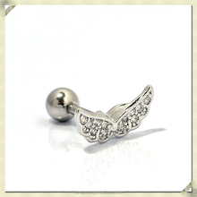 Unique design body piercing jewelry wings shape ear piercing jewelry for men upper ear piercing jewelry (RHE-005)