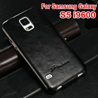 Luxury PU leather mobile phone case for Samsung S5 I9600 smartphone full protector 50 pcs/lot