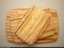 "18""Bamboo Cutting Board 3 piece set cutting board vegetable Chopper salad chopping board"
