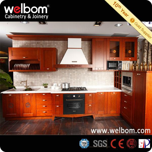 Madera de cerezo delicado mueble de cocina moderno for Muebles de cocina de madera modernos