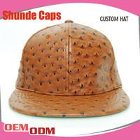 Wholesale Korean Plain Snapback Hats Caps Faux Leather Snapback Cap