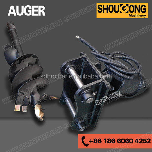 Hydraulic auger for excavator compact excavator attachment for Hydraulic auger motor for sale