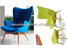 modern high back wing chair and hans wegner lounge chair