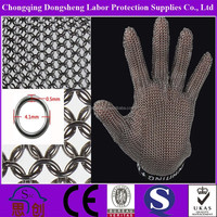 ANSI level 5 Anti Cut metal mesh hand gloves Gloves for Meat Cutting Blue Butcher Gloves for Pig Farm