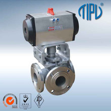 China Manufacturer 3 Inch Stainless Steel 3 Way Ball Valve