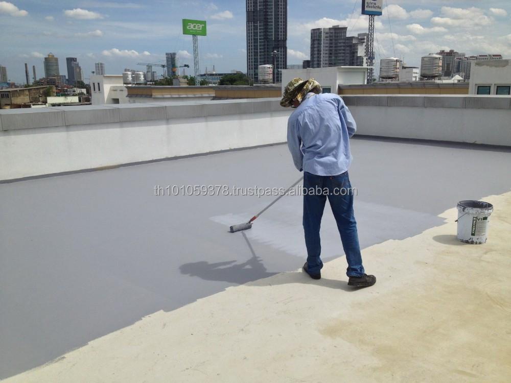 Elastomeric Roofing Membrane : Elastomeric flexible roof waterproof coating based on