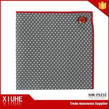 Custom Designs 100% Cotton Pocket Squares dot printed Women Men Hankerchief Hanky