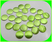 6mm round chrysolite color aluminum flat nail head for furniture and garment decorative usage
