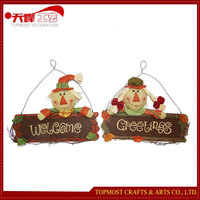 The clown pendant scarecrow hanging decoration boards and harvest festival
